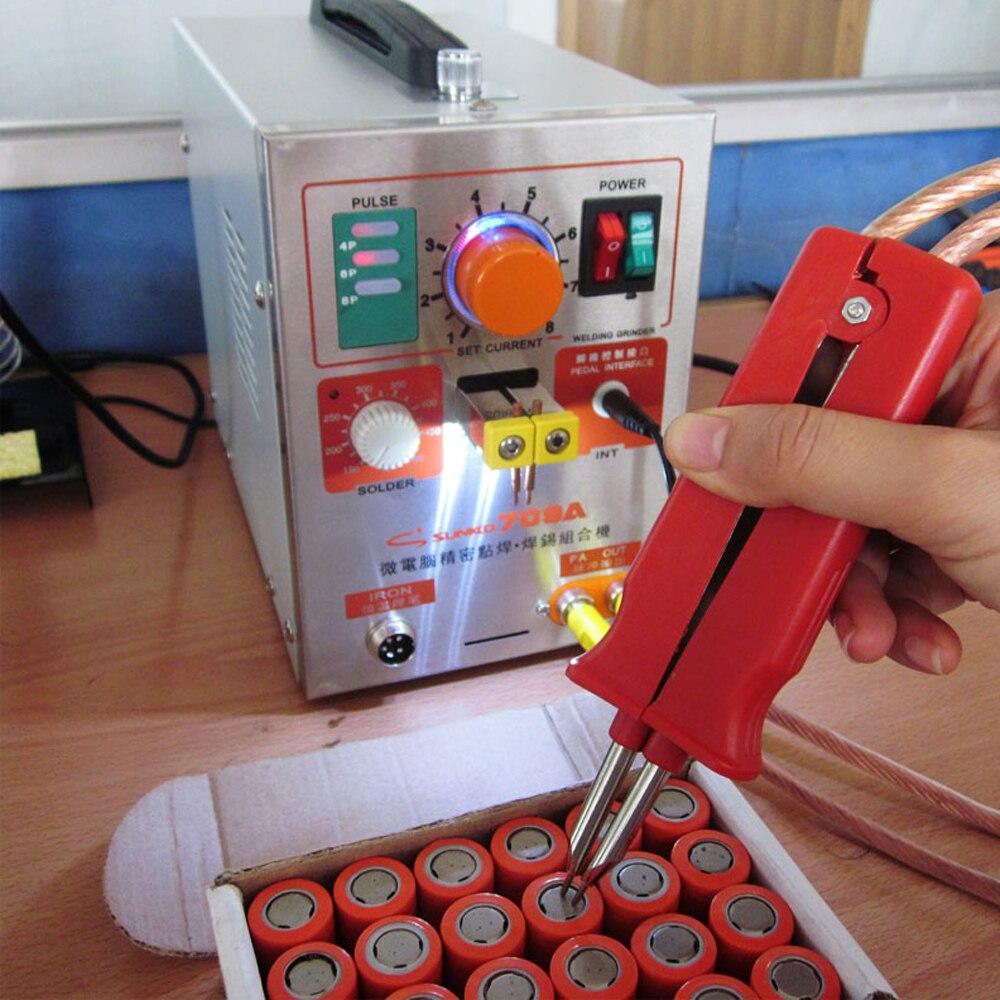 SUNKKO 709A Pulse spot soldador 1.9KW LED Pulse lith batería punto soldador punto máquina para 18650 batería paquete soldadura punto