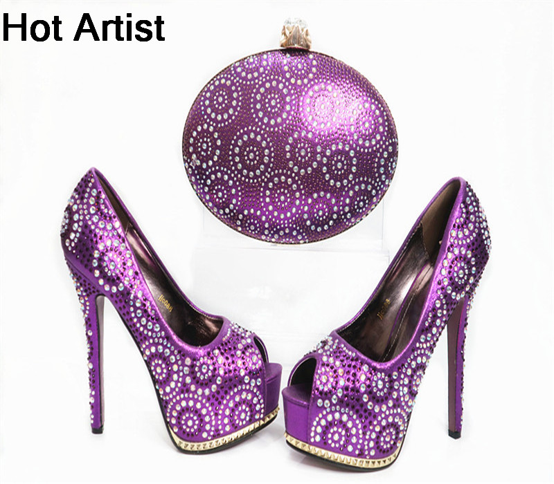 Hot Artist Fashion Italian Rhinestone Bead Shoes And Bag Set Summer Style Thin High Heel Shoes And Bag Set For Party G33 hot artist summer style africa woman shoes and bag set hot selling fashion slipper shoes and purse set for party bl425c