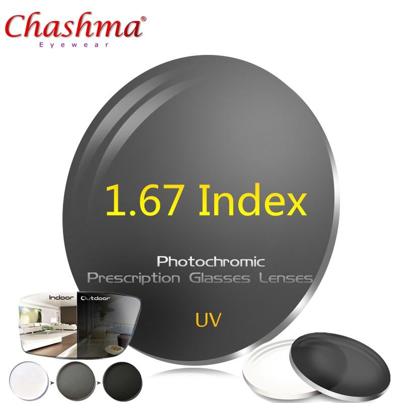 d33d35c6338 CHASHMA 1.67 Index Photochromic Lenses Prescription Eyeglass Lenses UV  Glasses Photochromic glasses Lenses