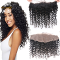 8A Best Brazilian Deep Curly Lace Frontal Closure With Baby Hair Bleached Knots 13x4 Free Middle 3 Part Human Hair Lace Frontals