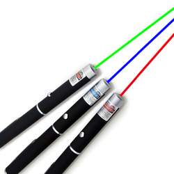 Лазерная указка 5 МВт высокой мощности зеленая синяя красная точка ручка с лазером мощность яркий лазерный метр 530Nm 405Nm 650Nm Зеленая лазерная ...