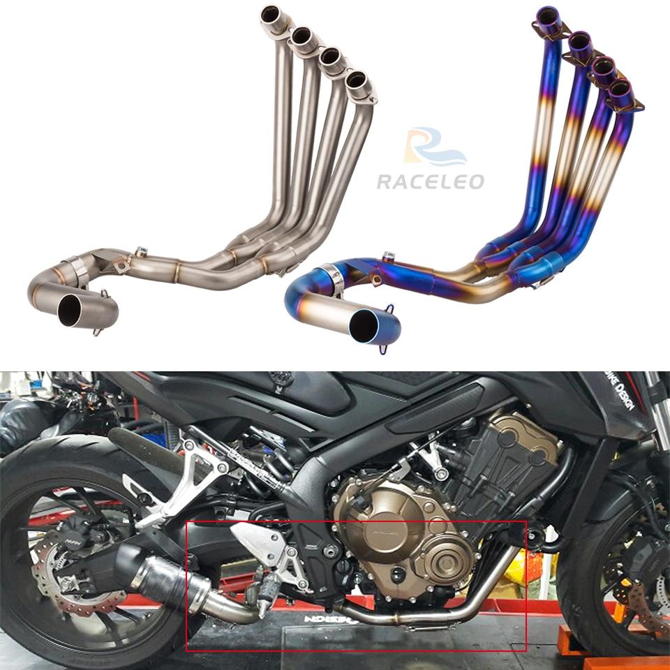 Moto en acier inoxydable système complet d'échappement tuyau avant pour CBR650 CBR650F 2015 2016 2017 CBR650F échappement cbr650f lien tuyau