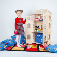 Dolls Home Toys house DIY Construction Puzzle Painting Board Education Block Toy Children Gifts doll accessory part DFB 3d