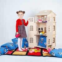 Puppen Hause Spielzeug haus DIY Bau Puzzle Malerei Bord Bildung Block Spielzeug Kinder Geschenke puppe zubehör teil DFB-3d