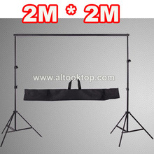 200CM Professinal photography photo booth backdrop photo shoot background support frame camera fotografica stands studio + bag
