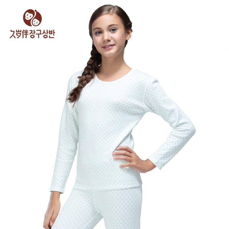 5e734bff7 Girl s warm underwear set backing shirt suit autumn winter long ...