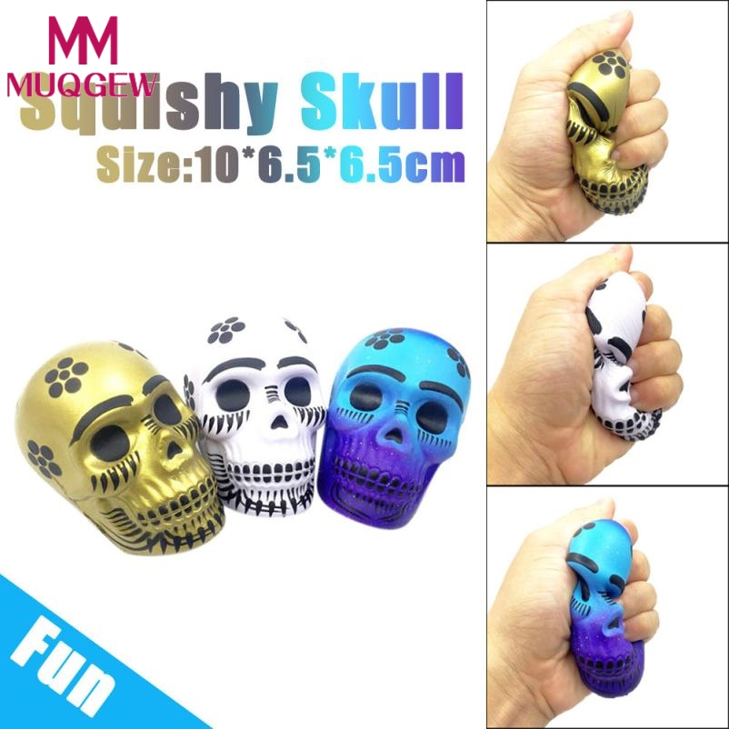 Exquisite Fun Galaxy Skull Scented Squishy Charm Slow Rising 10cm Kid Toys Gift 3 Style