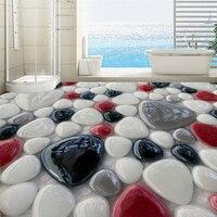 Beibehang Personalizado 3D adesivos de chão Criativo 3D cor piso de pedra chão filme pode ser ampliado dez vezes o papel de parede