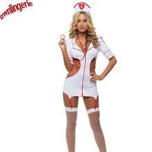 Сексуальный Костюм Медсестры порно Для женщин белый Форма японский Эротическое белье выдалбливают бинты Косплэй сексуальный костюм медсестры