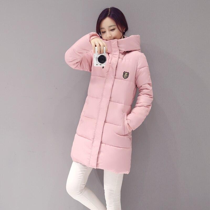 Новое поступление 2017 года Повседневное теплая с длинным рукавом Дамы одноцветное пальто Jaqueta Feminina куртка Для женщин парки хлопок Для женщин...