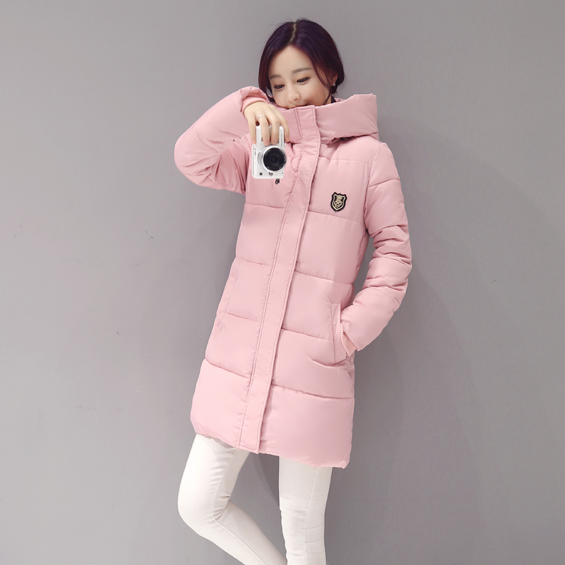 2017 New Arrival Casual Warm Long Sleeve Ladies Basic Coat Jaqueta Feminina Jacket Women   Parkas   Cotton Women Winter Jacket