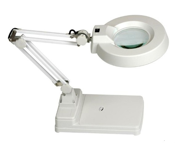 5X 10X Magnifying Crafts Glass Desk Lamp With 22W fluorescent bulb holder Free Shipping