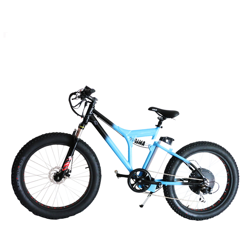 48V 500W Powerful Electric Bike 48V10A Lithium Battery Brushless Rear Hub Motor 26″x 4.0  Electric Fatbike Electric Bicycle