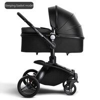 BABYFOND 2 в 1 детская коляска кожаная двухсторонняя амортизирующая тележка складная лампа детская коляска AULON детская коляска