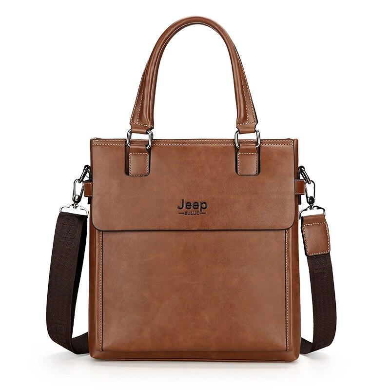 Mens PU Leather Shoulder Bags Handbags Crossbody Bag Messenger Bags JEEP Male Business Briefcase Bags bolsas male