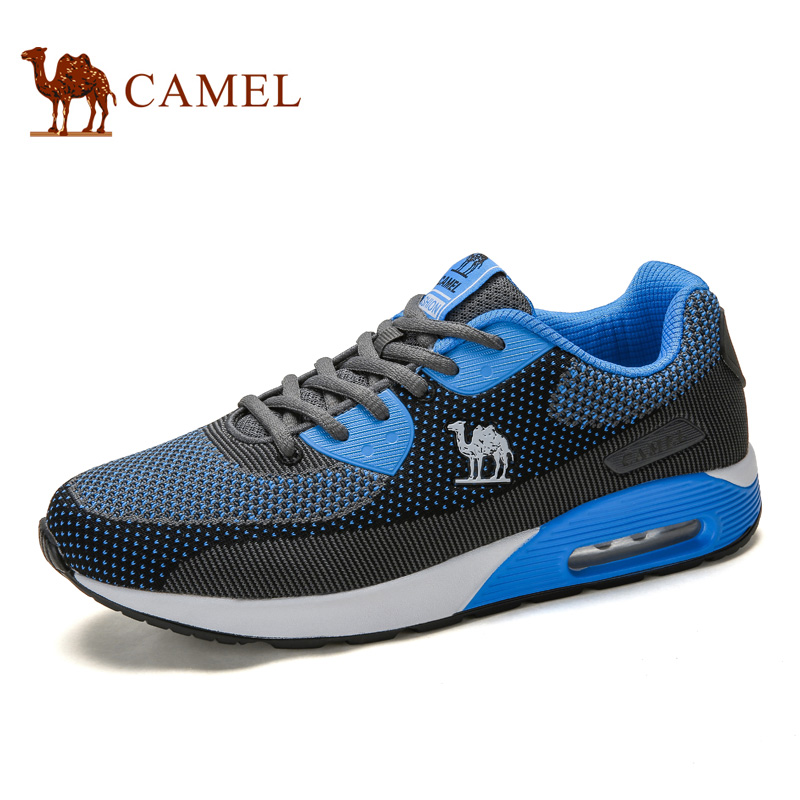 CAMEL Running Shoes For Men Lace-up Breathable Mesh Cushioning Outdoor Sports Walking Jogging Athletic Casual Training Sneakers lace up breathable mesh athletic shoes