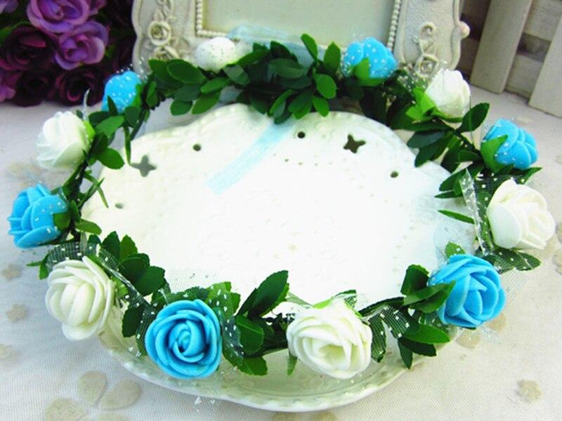 Rosa claveles peonía flor Halo nupcial Floral corona diadema guirnalda  menta cabeza corona boda tocado dama de honor en Artificial y Flores Secas  de Hogar y ... aedef7c32b3a