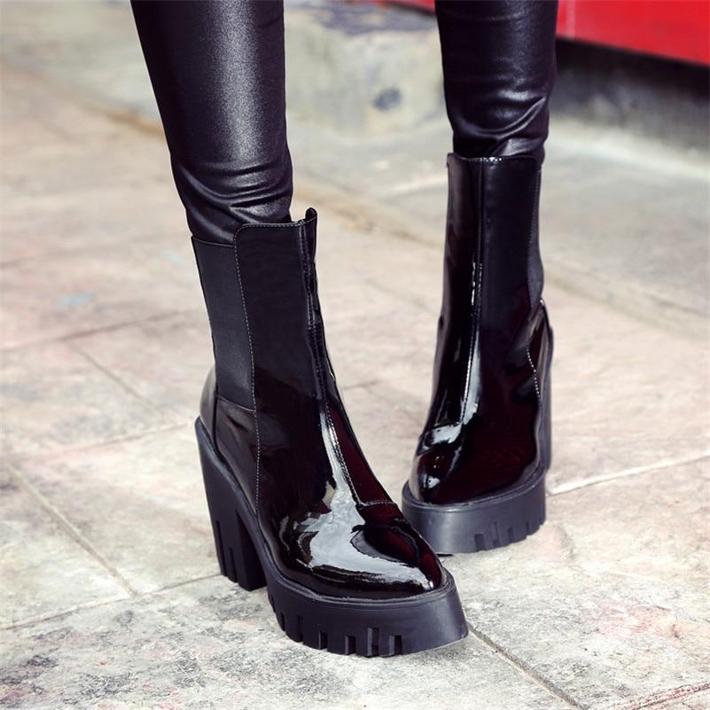 3f319a69b61f3 Plates Pointu Véritable Femme Noir Chaud Night Femmes Talons Cuir En formes  Fedonas Hauts 1 Sexy Cheville Club Automne Bottes Bout Chaussures Hiver  OzxT1q6A