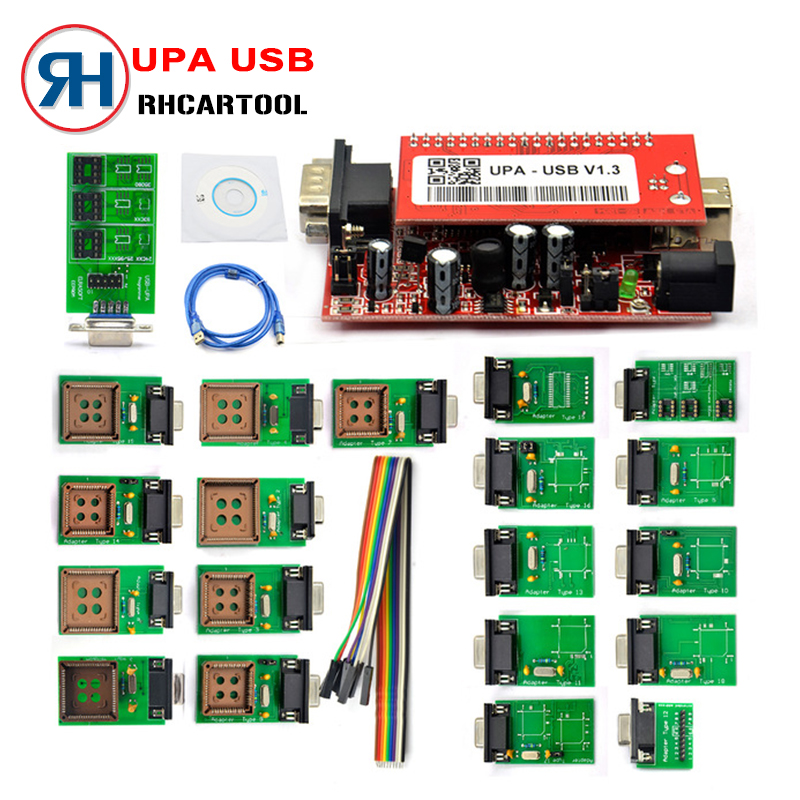 Car Diagnostic tool UPA USB Serial Programmer Full Set V1.3 Popular Eeprom Universal Chip Programmer auto ECU Tool Free Shipping