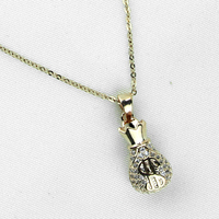 Apdkrasota  Fashion Womens Crystal Necklace Chain Pendant Necklace For Women XL-005