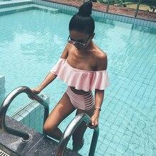 2019 Women Strapless Bikini Set Off Shoulder Swimsuit High Waist Cross Straps Biquini Sexy Hollow Out Swimwear Bathing Suit