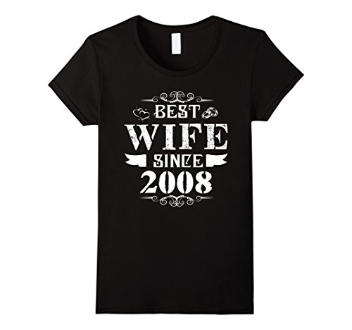 9Th Wedding Anniversary Gift | Womens T Shirt For Wife 9th Wedding Anniversary Gift Letter Print