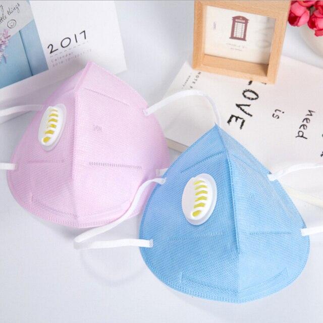 Mouth Mask Cotton Cute PM2.5 Anti Haze Black Dust Mask Nose Filter Windproof Face Muffle Bacteria Flu Fabric Cloth Respirator 2