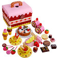 New Arrival Baby Toys Strawberry Simulation Chocolate Cake Cut Set Pretend Play Kitchen Afternoon Tea Wooden Toys Birthday Gift