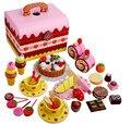 Nova Chegada Do Bebê Brinquedos Simulação de Morango Bolo de Chocolate Corte Set Pretend Play Kitchen Chá Da Tarde Brinquedos De Madeira Presente de Aniversário