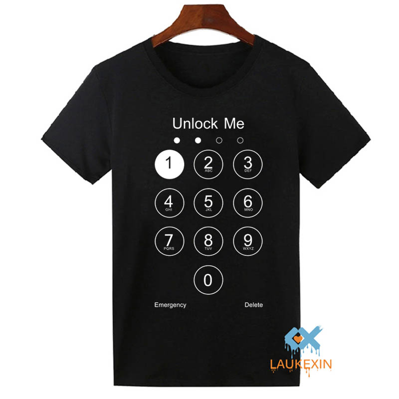2016 fashion summer design funny unlock me t shirt phone How to design shirt