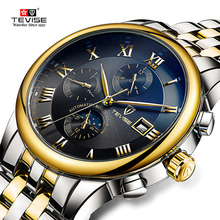 TEVISE Mens Watches Man Automatic Mechan