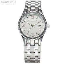 TAYLOR COLE Marque Relogio Feminino Relojes De Mujer Auto Date argent Pleine Bracelet En Acier Dame Robe Casual Quartz Montre/TC024