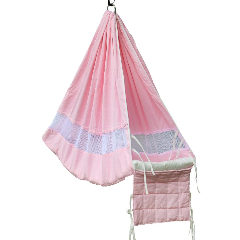 Newborn Baby Cotton Hammock Crib Safe Hanging Sleeping Bed Indoor Outdoor Kids Play Swing Rocker Portable Breathable Swing Bed