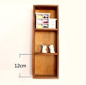 1 шт., Сортировочная коробка для хранения, горизонтальный вертикальный настенный Декор/настольная настенная полка для игрушек из натуральн...