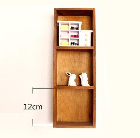 1PC Storage Sorting Box Horizontal Vertical Wall Decor/Desktop Natural Wood  Storage Toy Wall Shelf