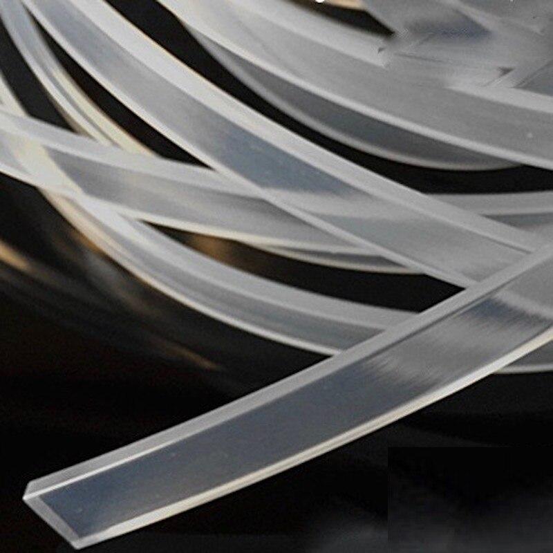 Custom Solid Silicone Rubber Strip Flat Bar Light Box Seal Strip High Temperature Heat Resistance Strip Transparent