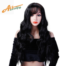 Allaosify Long Wavy Hair Wigs for Women Synthetic Gray For White Heat Resistant Fake Hairstyles Womens Pieces
