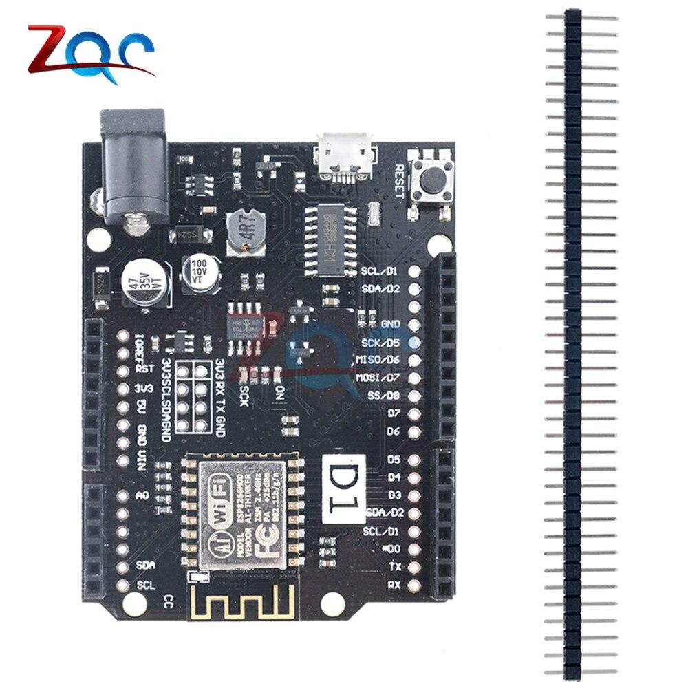 цена на For WeMos D1 R2 WiFi Based ESP8266 V2.1.0 ESP-I2F Development board For Arduino UNO R3 Nodemcu Compatible Module