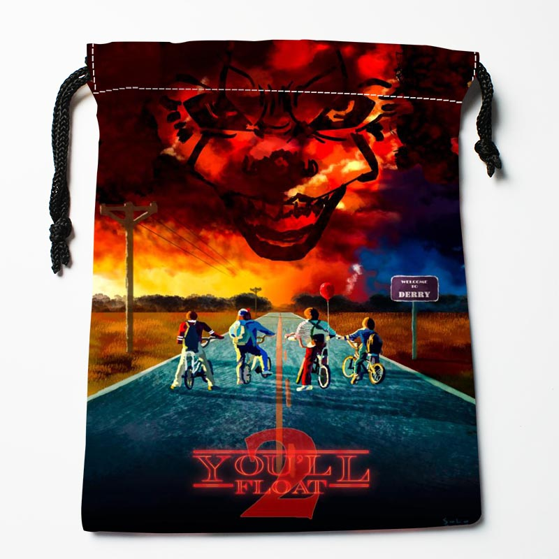 New Arrive  Stranger Things Drawstring Bags Custom Storage Bags Storage Printed Gift Bags More Size 27x35cm DIY Your Picture