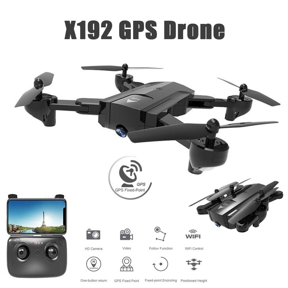 X192 gps Дрон с 720 P/HD камера 1080P Wi Fi FPV системы Follow Me фиксированной точки RC Quadcopter Вертолет VS Visuo XS812 SG900