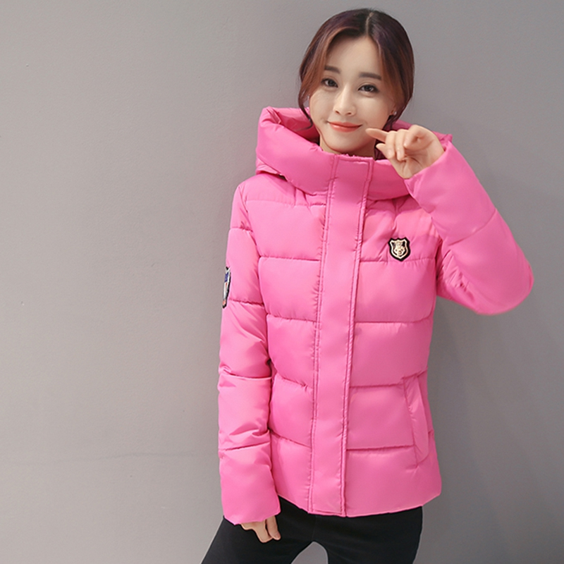 2017 NEW WOMEN WINTER SHORT JACKET COAT PLUS SIZE THICKEN HOODED WARM FEMALE PARKAS PADDED COTTON HIGH QUALITY HOT SALE ZL361 2015 new hot winter thicken warm woman down jacket coat parkas outwewear hooded loose brand luxury high end mid long plus size l