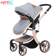 High Landscape Luxury Baby Stroller Siting and Lying Down Baby