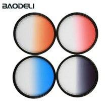 BAODELI Grau Orange Blau Rot Nd Gradienten Filter Konzept 49 52 55 58 62 67 72 77 82 Mm Für canon 77d Nikon Sony A6000 Zubehör