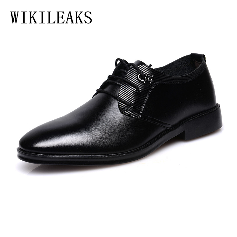 High quality Leather shoes men zapatos hombre wedding oxford shoes for men luxury designer formal shoes men dress shoes man 2018 choudory mens designer shoes luxury brand elegant men formal shoes studded glitter loafers iron toe zapatos hombre pluse size46