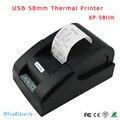 Envío libre Original de alta puerto USB 58mm impresora de Recibos térmica de Bajo ruido mini Pos XP-58IIH Xprinter