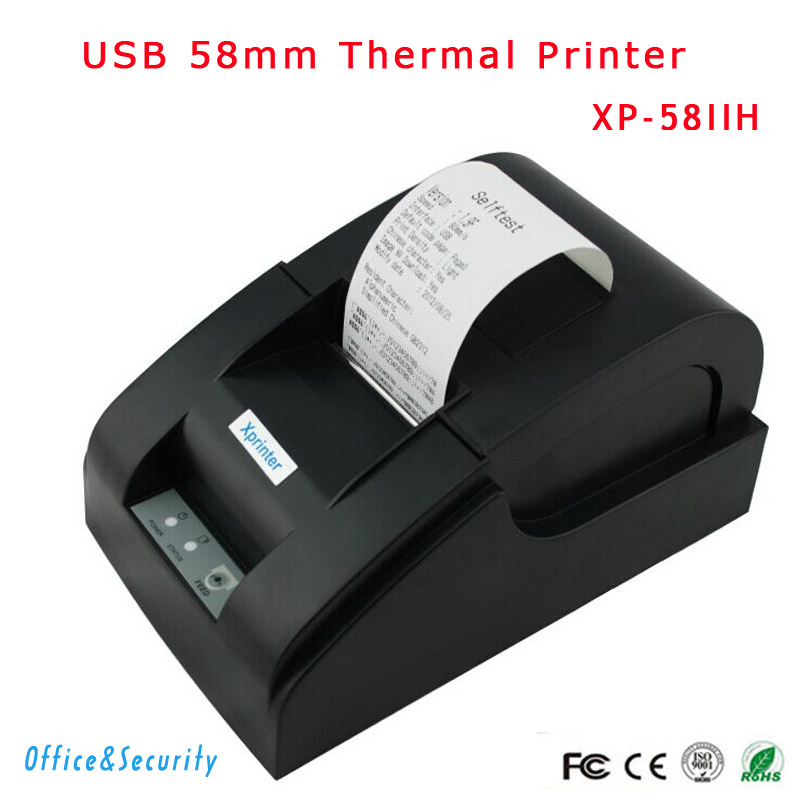 ФОТО Free shipping Original high USB port 58mm thermal Receipt printer Low noise mini Pos Xprinter XP-58IIH