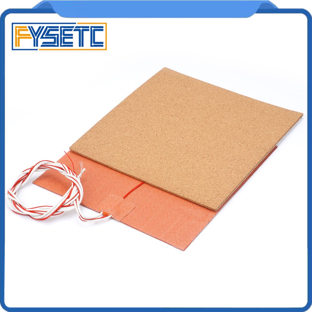 купить USA Material! 220V 500W Silicone Heater Pad Mat 200X200mm + Adhesive Cork Sheets 200*200*3mm Heated Bed Hot Plate For Prusa i3 по цене 1617.09 рублей