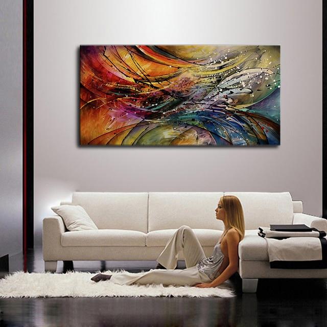 Handgemaltes Modernes Abstraktes Ölgemälde Leinwand Gemälde Mit Rot ...