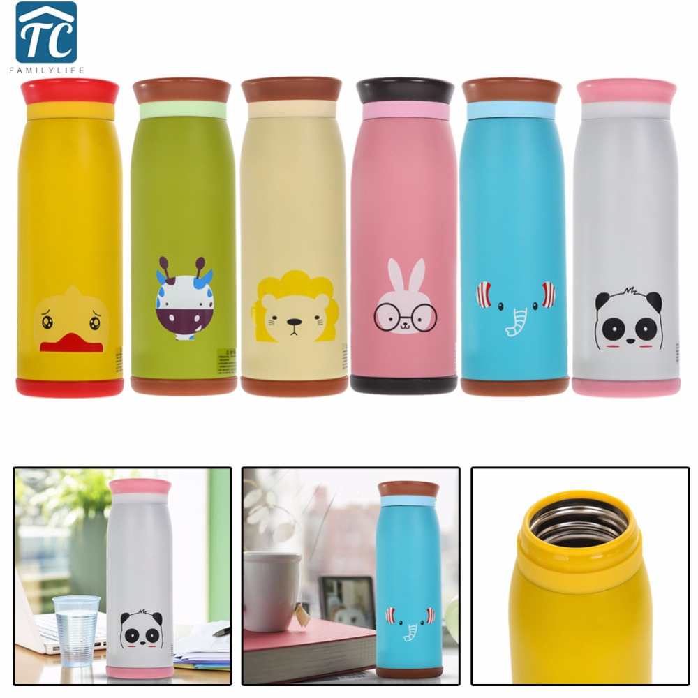 500ml Cartoon Vacuum Flasks Kids Stainless Steel Children Water Bottle Thermoses Insulated Tumbler Animals Thermocup School
