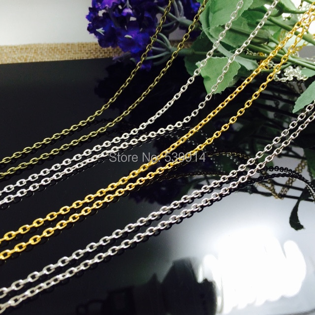 2x3MM 20M/lot (Bronze/Silver/Gold/Nickel Plated) Metal Chains Jewelry O Shape Chain Jewelry Findings Components